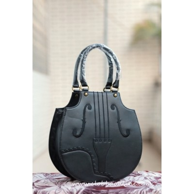 IW Style Violin Embroidery Handbag(In Stock)
