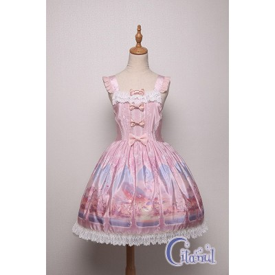 Citanul Kitty's Illusion Pinafore Dress(Pre-Made/Limited)
