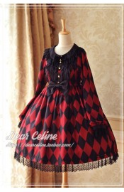 Dear Celine Pink Lable Dark Clown High Waist One Piece(Reservation)