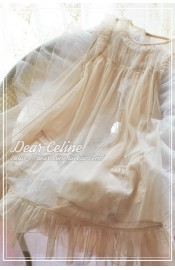 Dear Celine Pink Lable Light Summer Tulle Overdress(Leftovers)