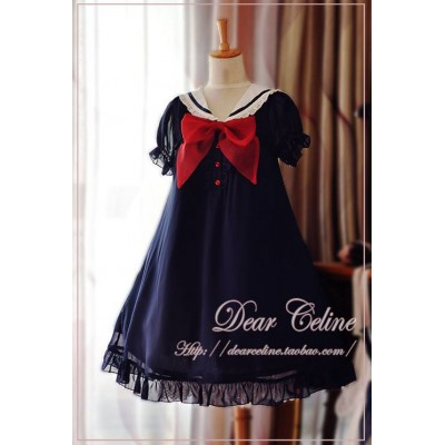 Dear Celine Sailor Style Dolly One Piece(In Stock)