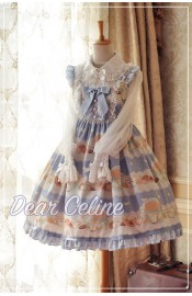 Dear Celine Tea Party High Waist JSK(Reservation)