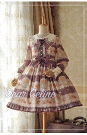 Dear Celine Tea Party Long Sleeve One Piece(Reservation)