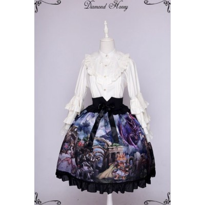 Diamond Honey Dragon and Knight Cat Skirt(Reservation)