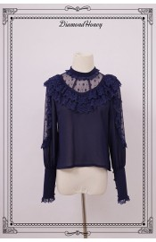 Diamond Honey Pirate Alice Hollow Out Lace Blouse(Reservation)