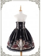 Grove Deer City of Devils High Waist Corset Skirt(Remainder Payment)