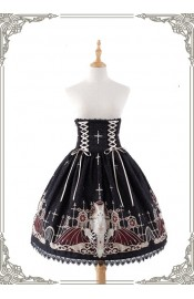 Grove Deer City of Devils High Waist Corset Skirt(Reservation/Deposit)