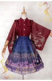 Ichigo Miko Night Sakura Water Lantern Short Skirt(Reservation/Deposit)