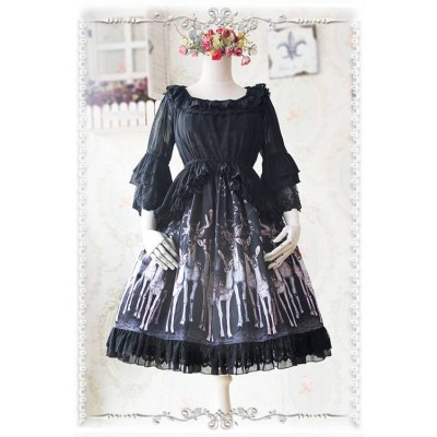 Infanta Bell Sleeved Frilled Over Blouse