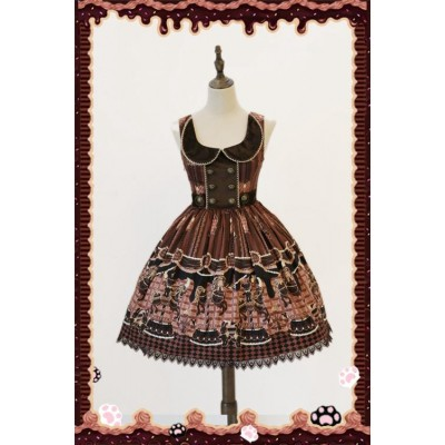 Infanta Chocolate Carousel Normal Waist JSK
