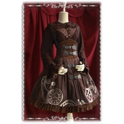Infanta Clock Embroidery Corset Skirt