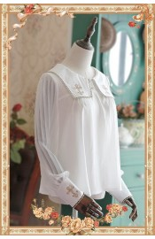 Infanta Cross Embroidered Long Sleeve Blouse(Limited)