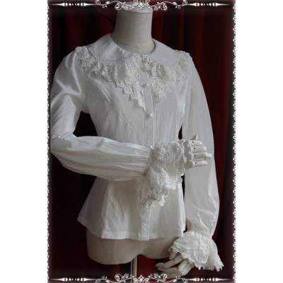 Infanta Lady Embroidery Chiffon Blouse