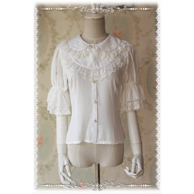 Infanta Miss Strawberry Blouse(with Detachable Bib)