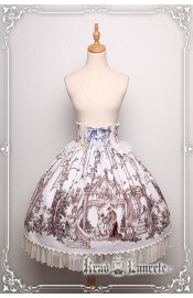 Krad Lanrete Beauty and the Beast High Waist Skirt(Pre-Order/Limited)