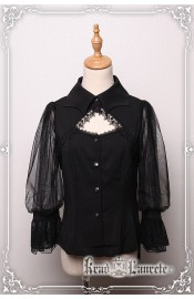 Krad Lanrete Transilvania Moonlight Bat Collar Blouse(Pre-Order)