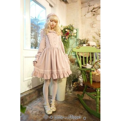 Little Dipper Autumn Flying Lace One Piece(Reservation)