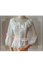 Magic Tea Party Music Note Chiffon Blouse