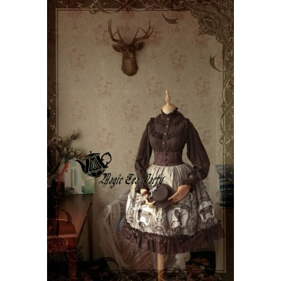 Magic Tea Party Raven and Writing Desk Skirt