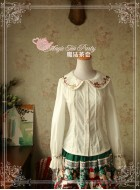 Magic Tea Party Sweet Christmas Embroidered Blouse