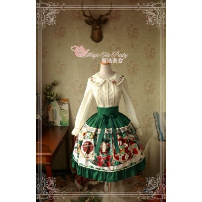 Magic Tea Party Sweet Christmas Skirt