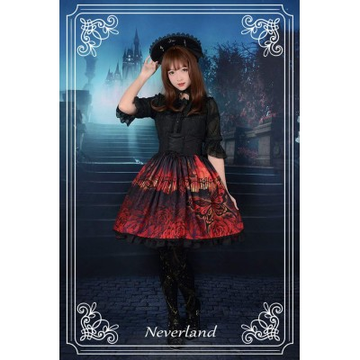Neverland Butterfly Graveyard High Waist Skirt