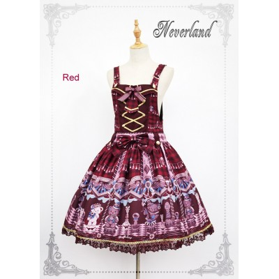 Neverland Chocolate Bear Pinafore Dress