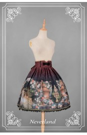 Neverland Clock Fairy High Waist Skirt
