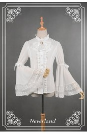 Neverland Ice Mirror Bell Sleeved Chiffon Blouse