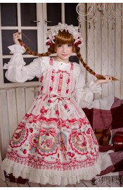 Neverland Strawberry Bunny High Waist JSK