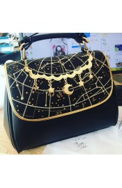 Mufish Constellation Embroidered 2 Way Handbag(In Stock)