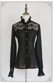 Nightmare The Black Death Chiffon Blouse(Leftovers)