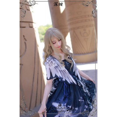 Princutess Whale Fall Wing Sleeve One Piece(Reservation/Deposit)