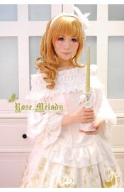 Rose Melody Swan Princess Blouse II(Black Only/In Stock)