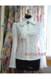 Surface Spell Gothic Begonia High Collar Blouse