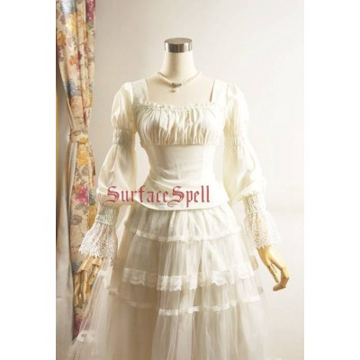 Surface Spell Gothic Dancing Roses Chiffon Blouse