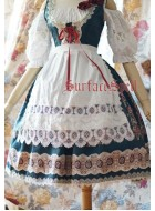 Surface Spell Gothic Alpen Rose Dirndl Lace Apron