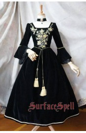 Surface Spell Gothic Bourbon Embroidery One Piece