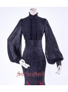 Surface Spell Gothic Lorelei Chiffon Blouse