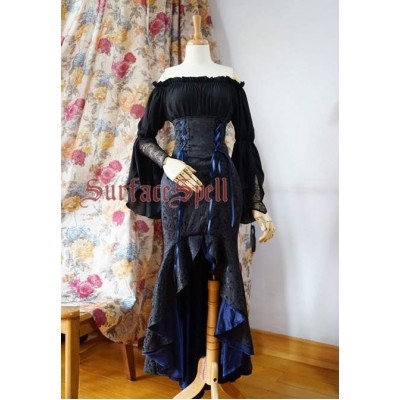Surface Spell Gothic Mermaid Corset Tail Skirt