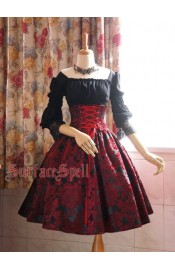 Surface Spell Gothic Lady In Darkness Jacquard Corset Skirt