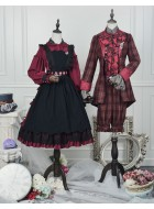 ZJ Story Mad Hatter Alice One Piece, Apron and Waist Belt Full Set(Reservation/Deposit)