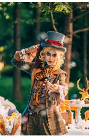 ZJ Story Mad Hatter Tea Party Vest and Shorts(Reservation/Deposit)
