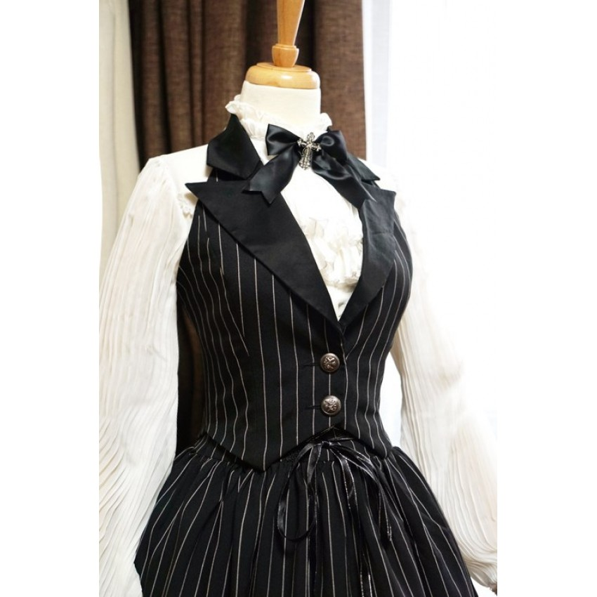 34218d32d2 Surface Spell Gothic Striped Daily Corset Vest - CLOBBAONLINE